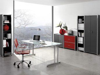 Schreibtisch mit Glasplatte Sevilla