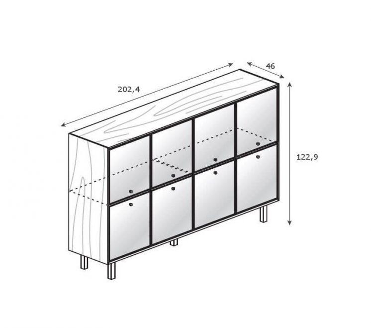 Highboard-8-Glastueren_Abmessung