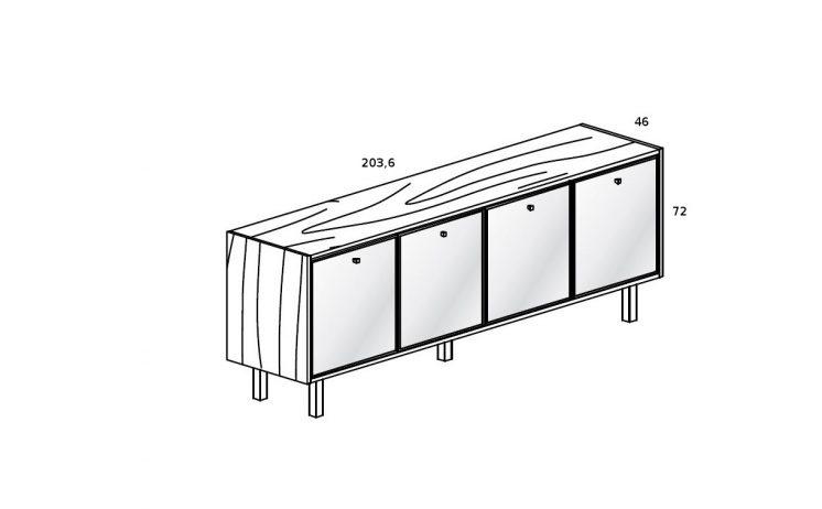 lowboard mit glast ren 4 chefzimmer b rom bel design b roeinrichtung. Black Bedroom Furniture Sets. Home Design Ideas