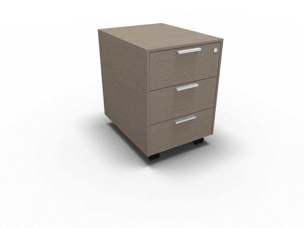Rollcontainer mit 3 Schubladen | Büromöbel