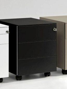 rollcontainer mit 3 schubladen b rom bel. Black Bedroom Furniture Sets. Home Design Ideas