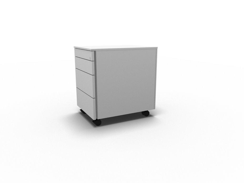 Rollcontainer mit 4 Schubladen | Büromöbel