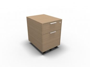 Rollcontainer mit Hängeregistratur - Echtholzfurnier