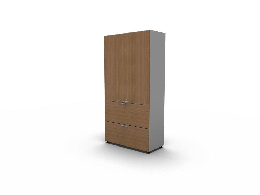 Büroschrank mit Türen und Schubladen – Schrankelement – Bralco ...