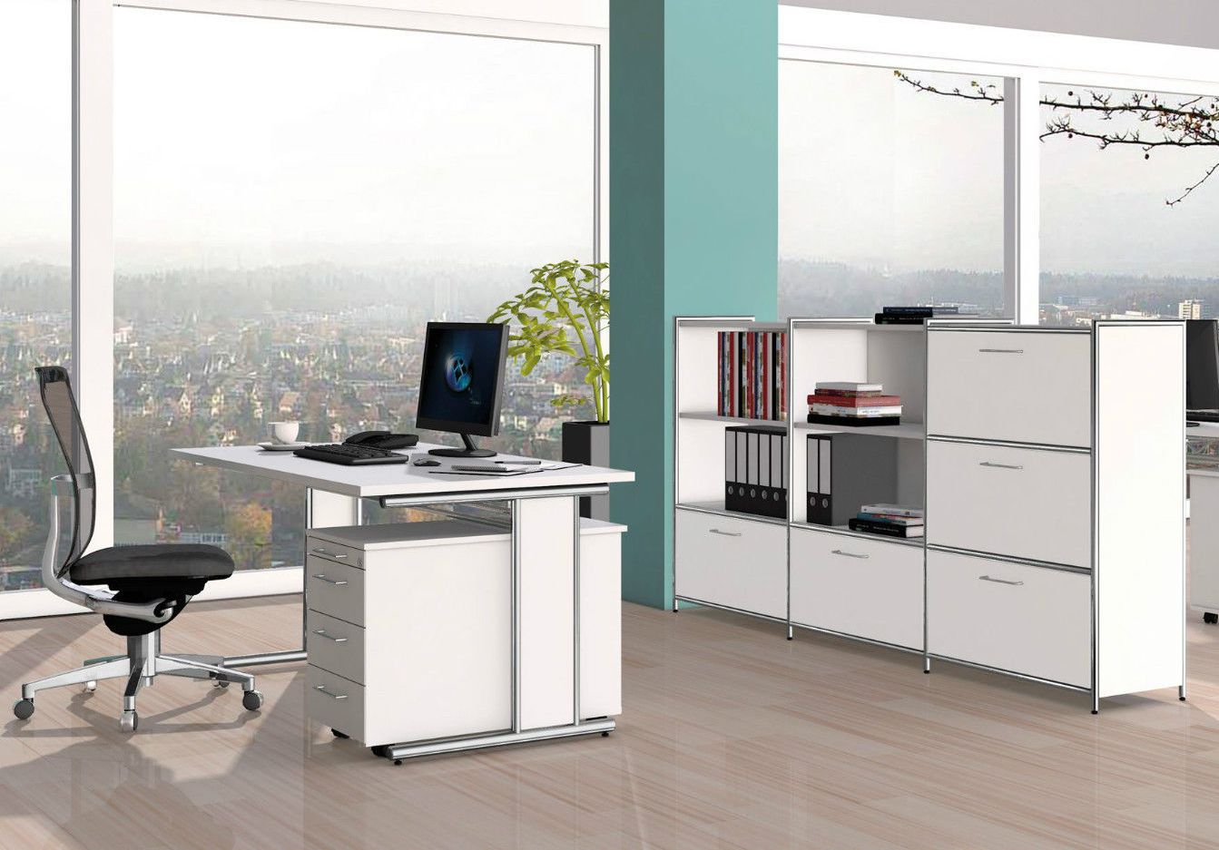 Schreibtisch chromgestell - Buromobel experte ...