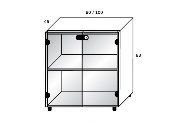 sideboard mit glast ren mit schloss klassiker direkt chefzimmer b rom bel funktionsm bel. Black Bedroom Furniture Sets. Home Design Ideas