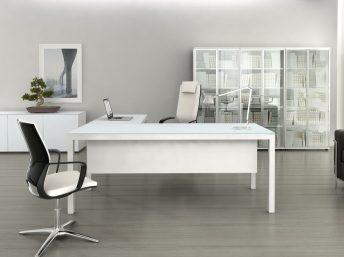 Chef- Schreibtisch Bari Glas