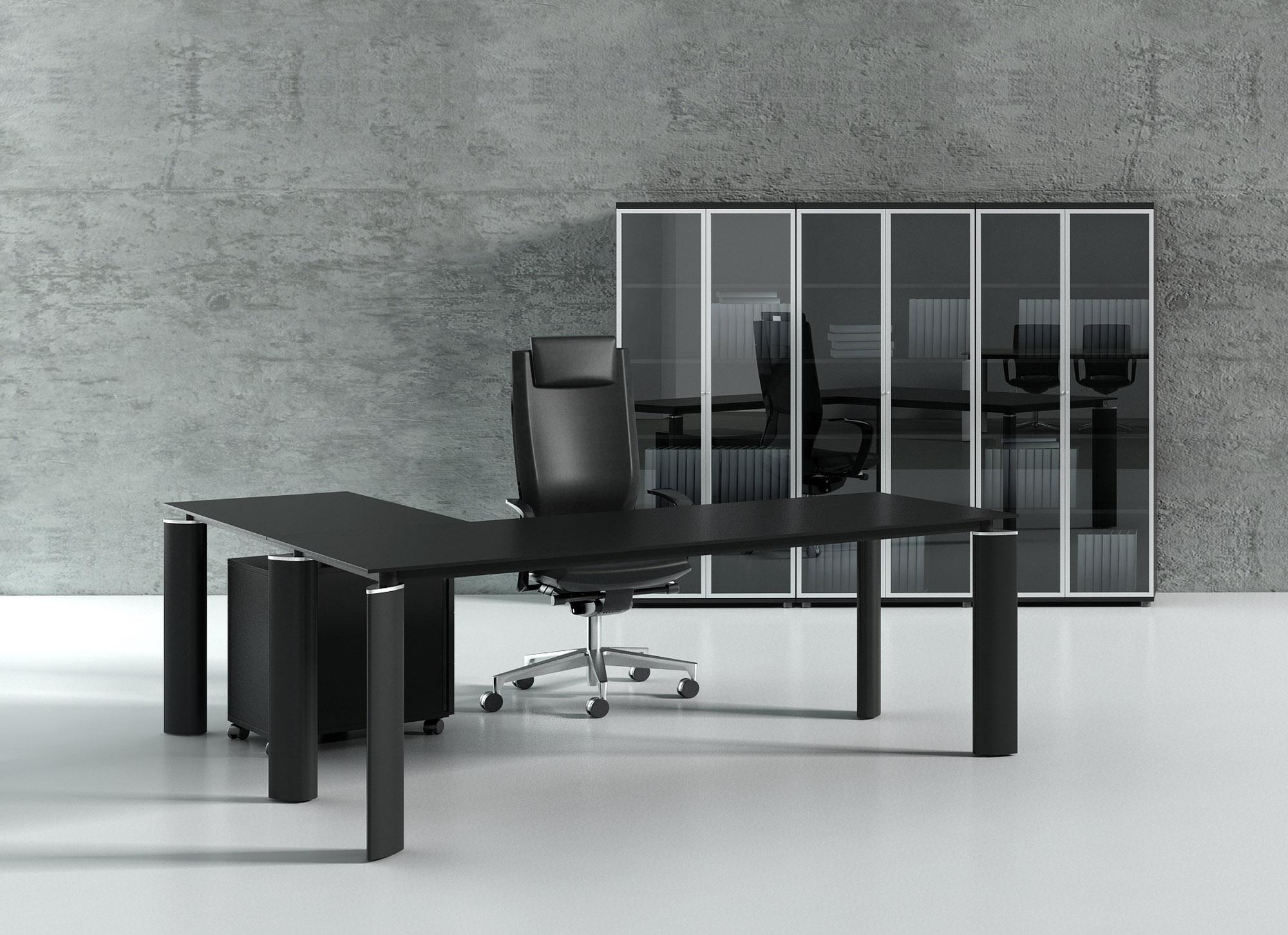 design winkel schreibtisch ancona glas b rom bel. Black Bedroom Furniture Sets. Home Design Ideas