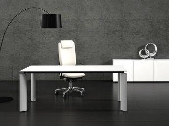 Design Glas- Schreibtisch Ancona