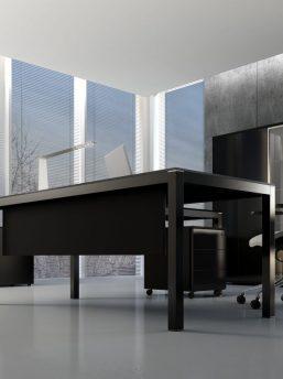 Schreibtisch Bari mit Glasplatte