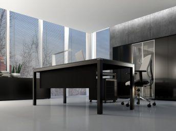 Glas- Schreibtisch Bari