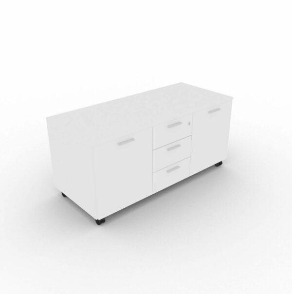 Multifunktionscontainer_auf_Rollen_2_Türen- Weiss
