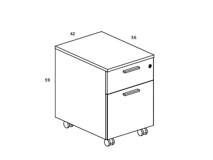 Rollcontainer-mit-Haengeregistraturfach-4