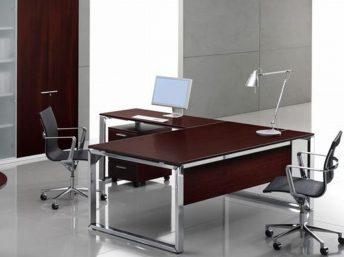 Knieraumblende für Schreibtisch - Furniert
