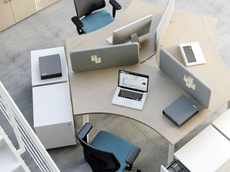 schreibtisch f r 3 personen ogi a klassiker direkt. Black Bedroom Furniture Sets. Home Design Ideas