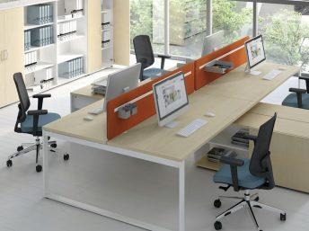 Schreibtisch für 2 Personen mit Managerschrank OGI_Q