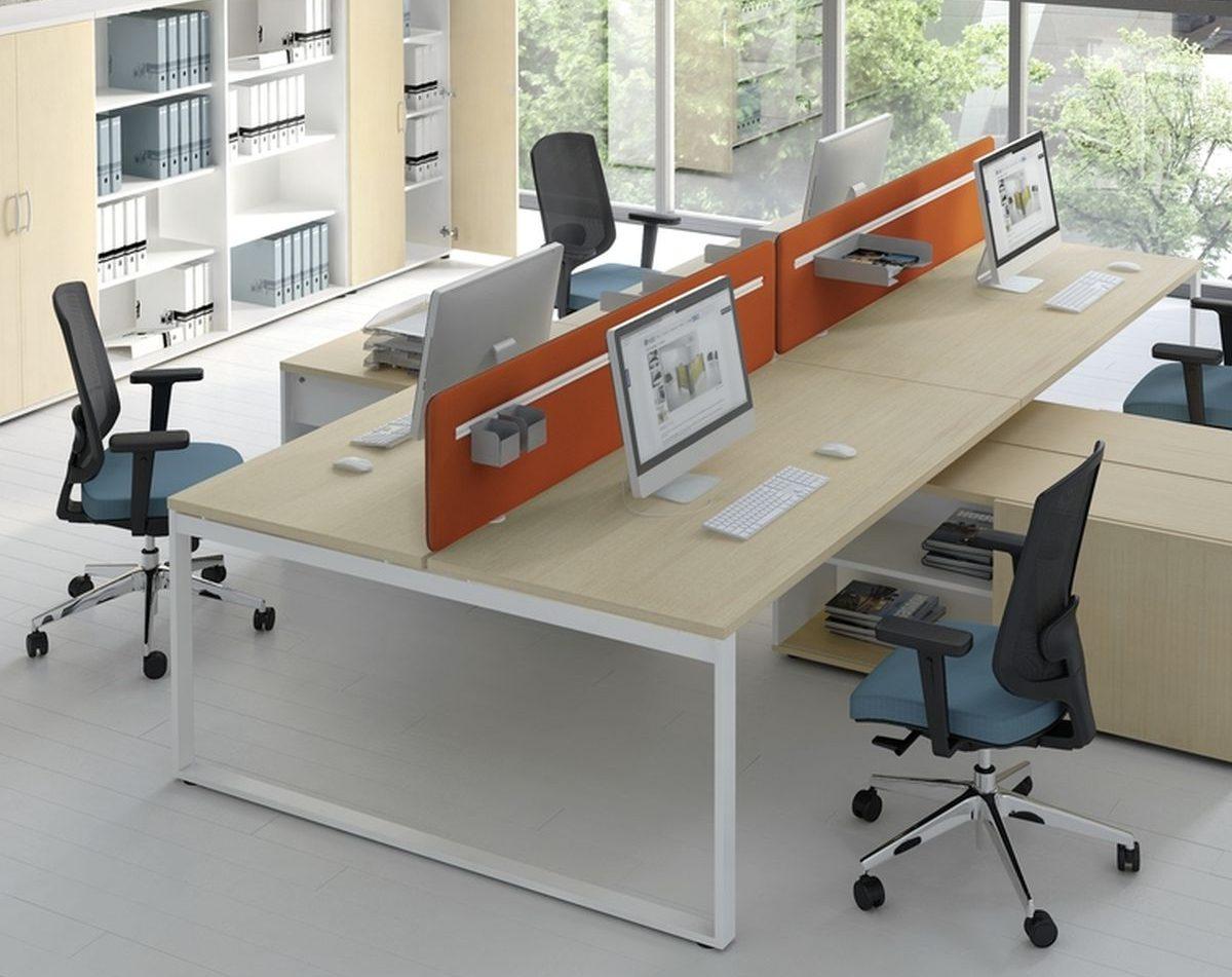 Schreibtisch für 2 Personen mit Managerschrank OGI_Q | Klassiker ...