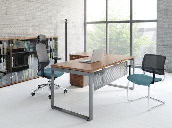 Winkel- Schreibtisch OGI_Q mit Container