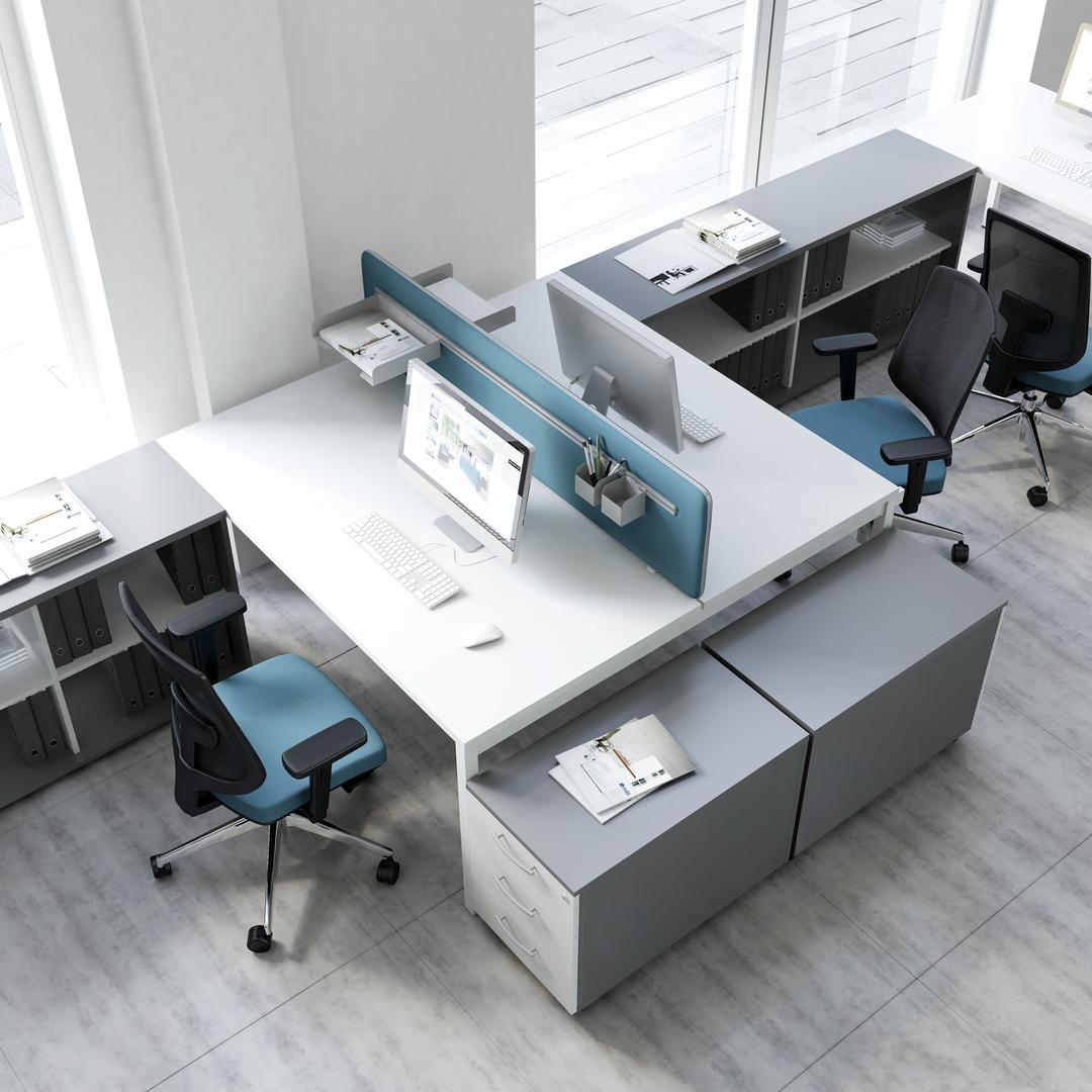 schreibtisch f r 2 personen ogi y klassiker direkt chefzimmer b rom bel funktionsm bel. Black Bedroom Furniture Sets. Home Design Ideas