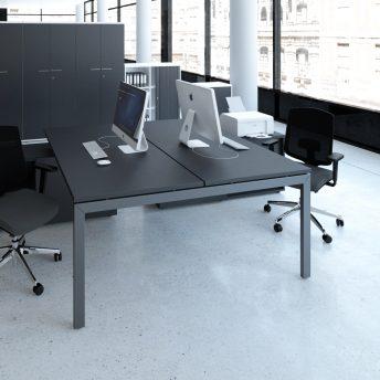 Schreibtisch für 2 Personen mit Managerschrank OGI_U