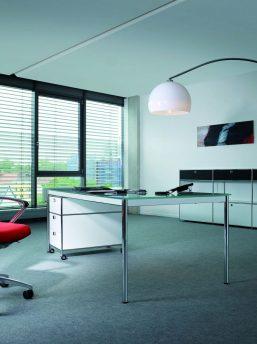 Glasschreibtisch system4