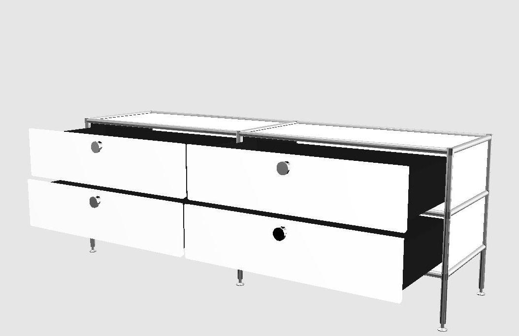Lowboard viasit system4 chefzimmer b rom bel design for Lowboard design klassiker