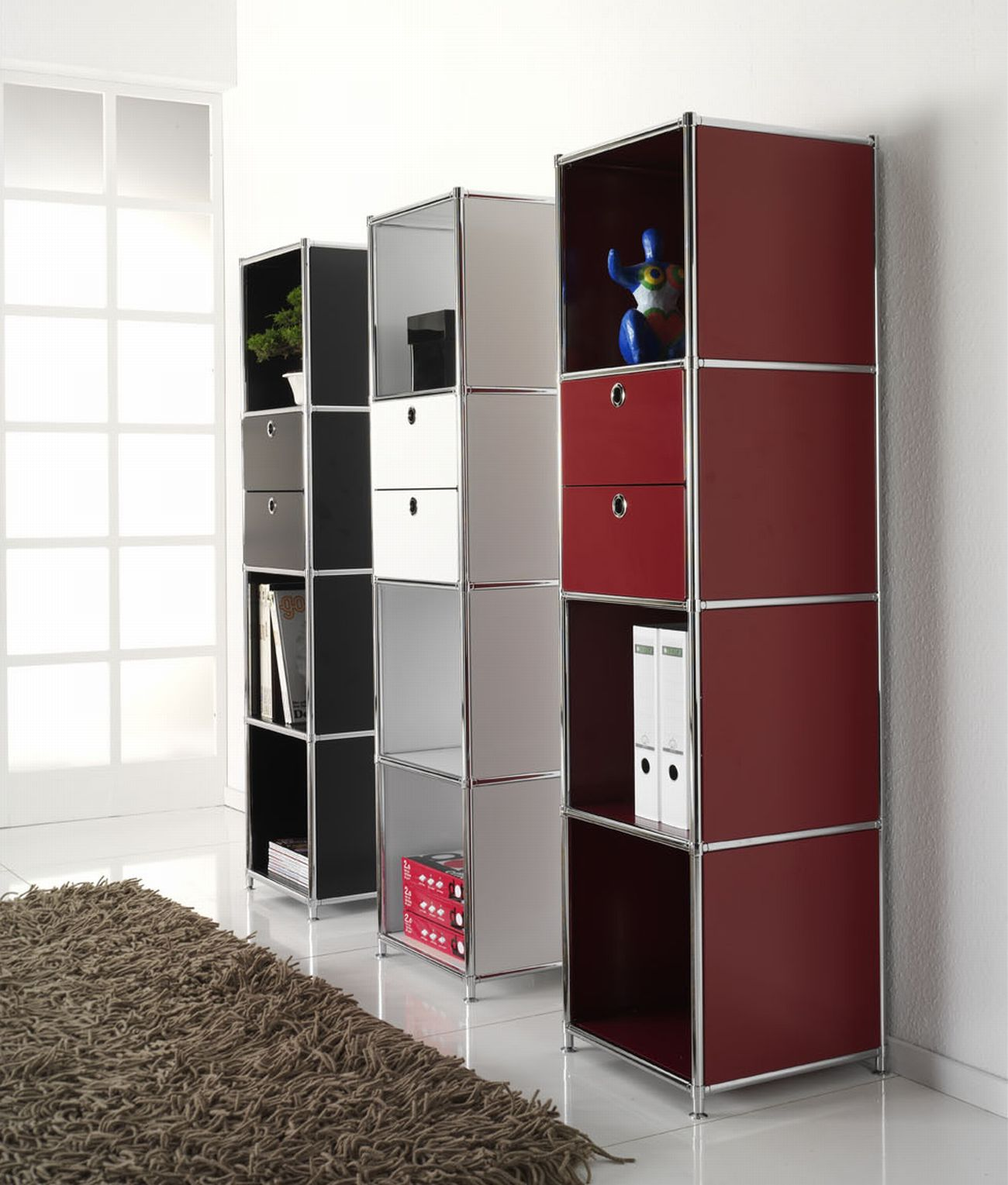 regal system4 offen mit 2 schubladen b rom bel. Black Bedroom Furniture Sets. Home Design Ideas
