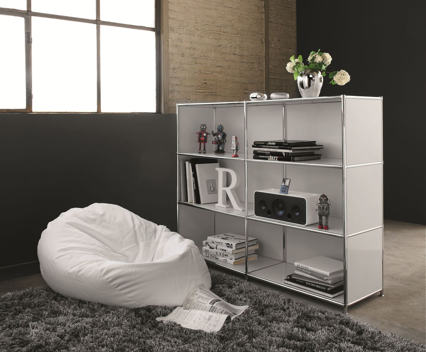 regal system4 trennwand klassiker direkt chefzimmer. Black Bedroom Furniture Sets. Home Design Ideas