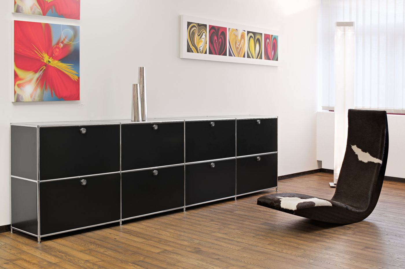 sideboard mit 8 schubladen viasit b rom bel. Black Bedroom Furniture Sets. Home Design Ideas