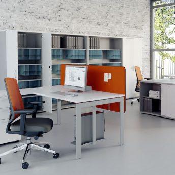Winkel- Schreibtisch OGI_U mit Container