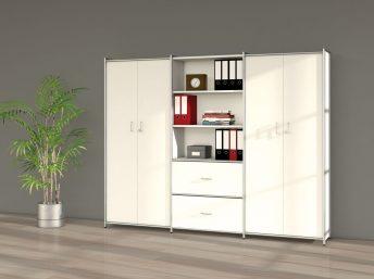 Büroschrank mit 2 Türen und 2 Schubfächern 5OH