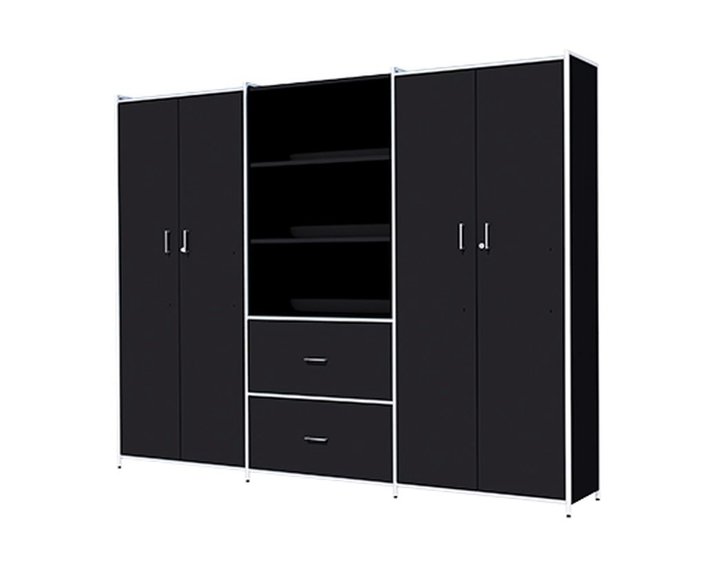 b roschrank mit 2 t ren und 2 schubf chern 5oh b rom bel. Black Bedroom Furniture Sets. Home Design Ideas