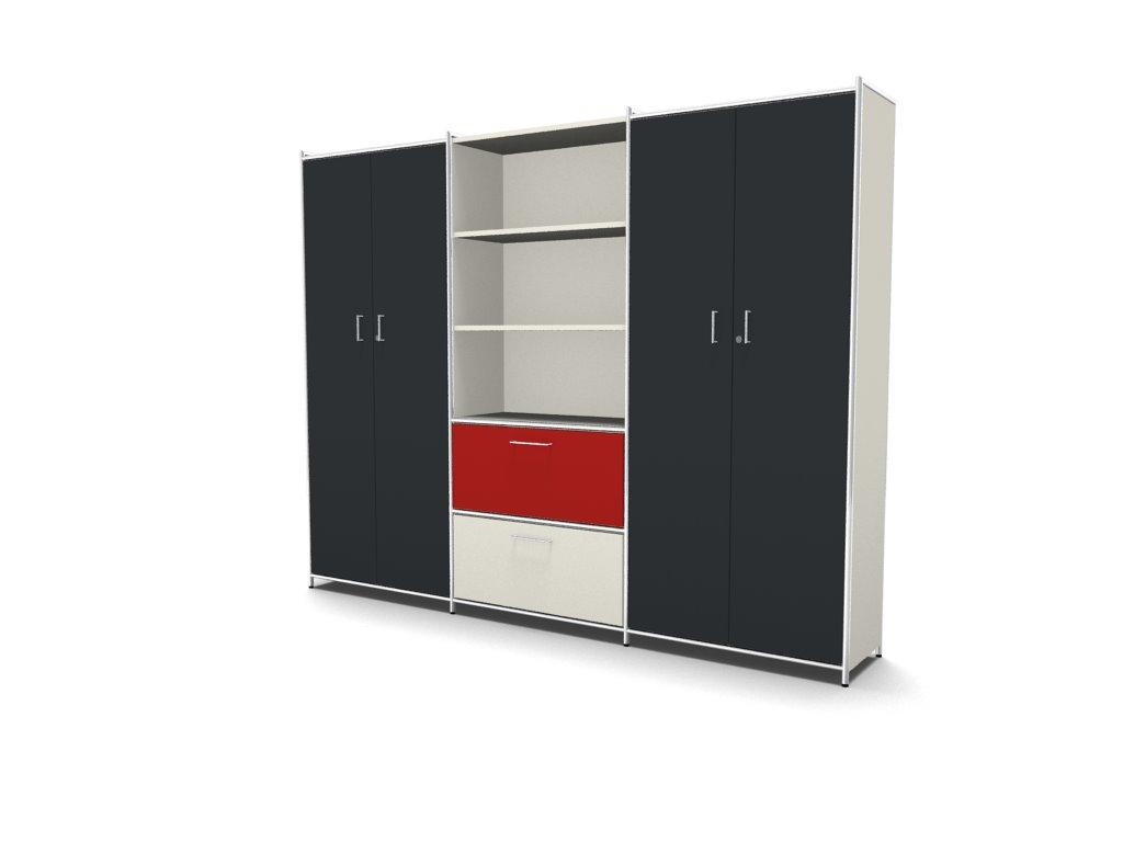 Büroschrank weiß schubladen  Büroschrank Weiß Mit Türen | rheumri.com