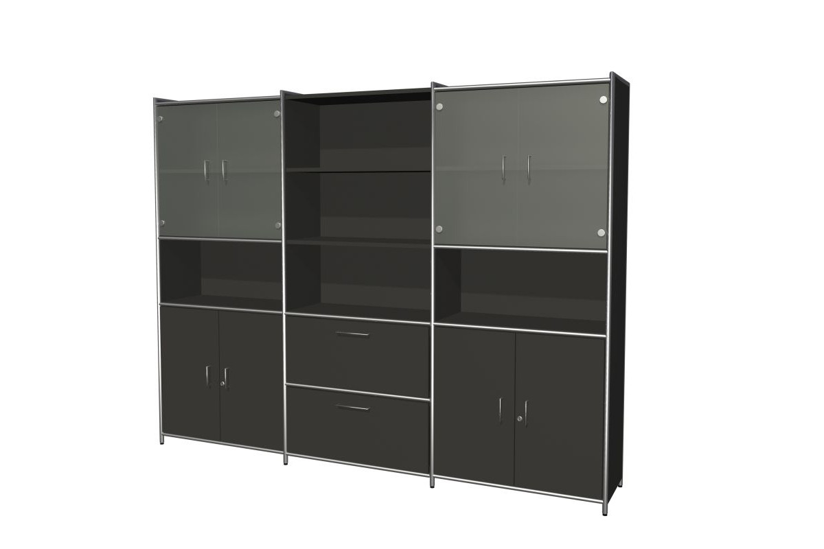 b roschrank mit 4 t ren und 2 schubladen b rom bel. Black Bedroom Furniture Sets. Home Design Ideas