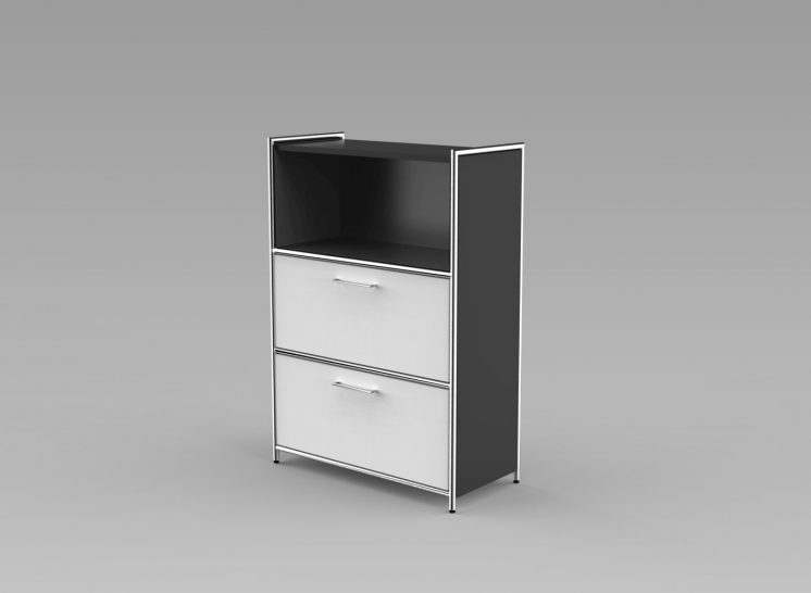 Highboard_2Schubladen_3OH_anthrazit_weiss