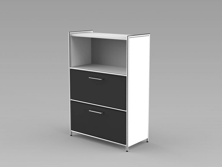Highboard_2Schubladen_3OH_weiss_anthrazit