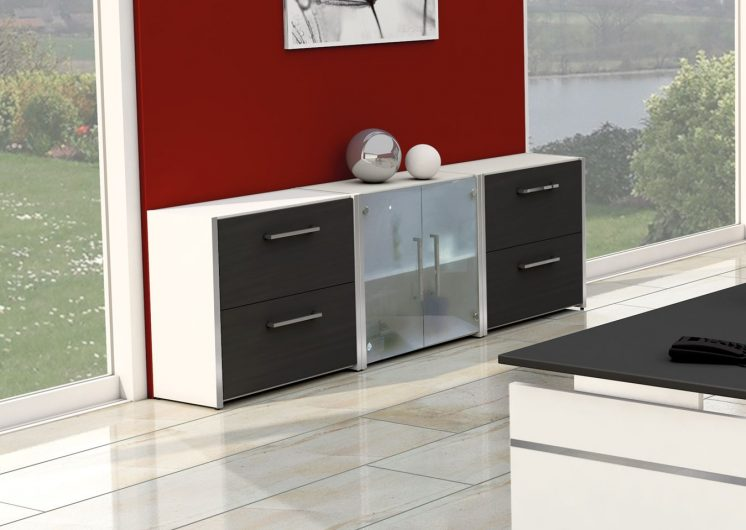 offenes sideboard b rom bel. Black Bedroom Furniture Sets. Home Design Ideas