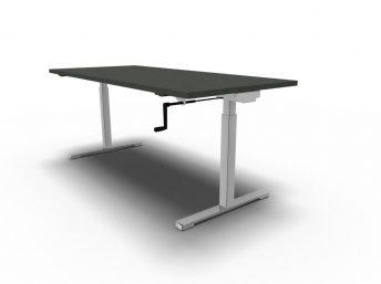 Schreibtisch per Kurbel höhenverstellbar