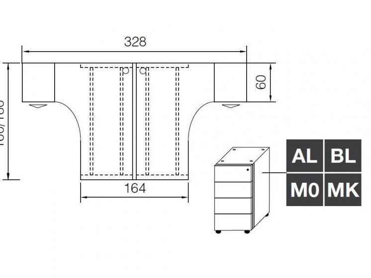 arbeitsplatz-2-personen-glider-4-schubladen