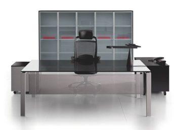 Glas- Schreibtisch GLIDER