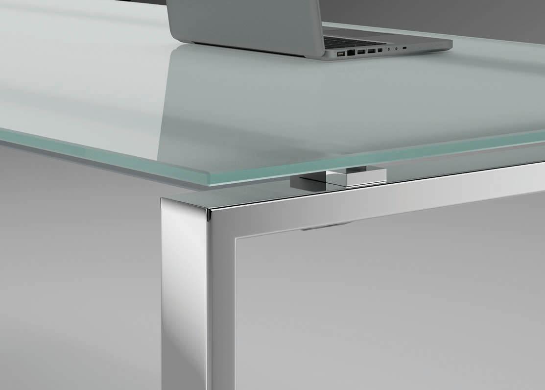 glas-schreibtisch glider | büromöbel