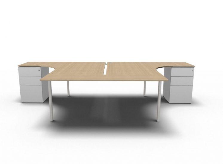 schreibtisch mit container f r 2 personen b rom bel. Black Bedroom Furniture Sets. Home Design Ideas
