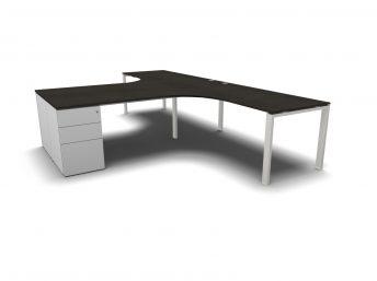 Eckschreibtisch für 2 personen  schreibtisch mit container | Chefzimmer, Büromöbel, Design ...