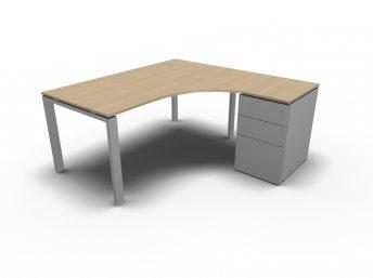 Schreibtisch mit Container GLIDER Kompaktschreibtisch