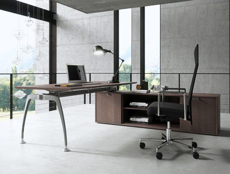 Schreibtisch mit Sideboard Tiper