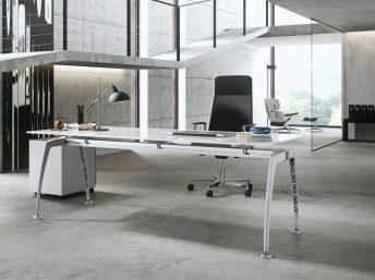 Glas- Schreibtisch Tiper