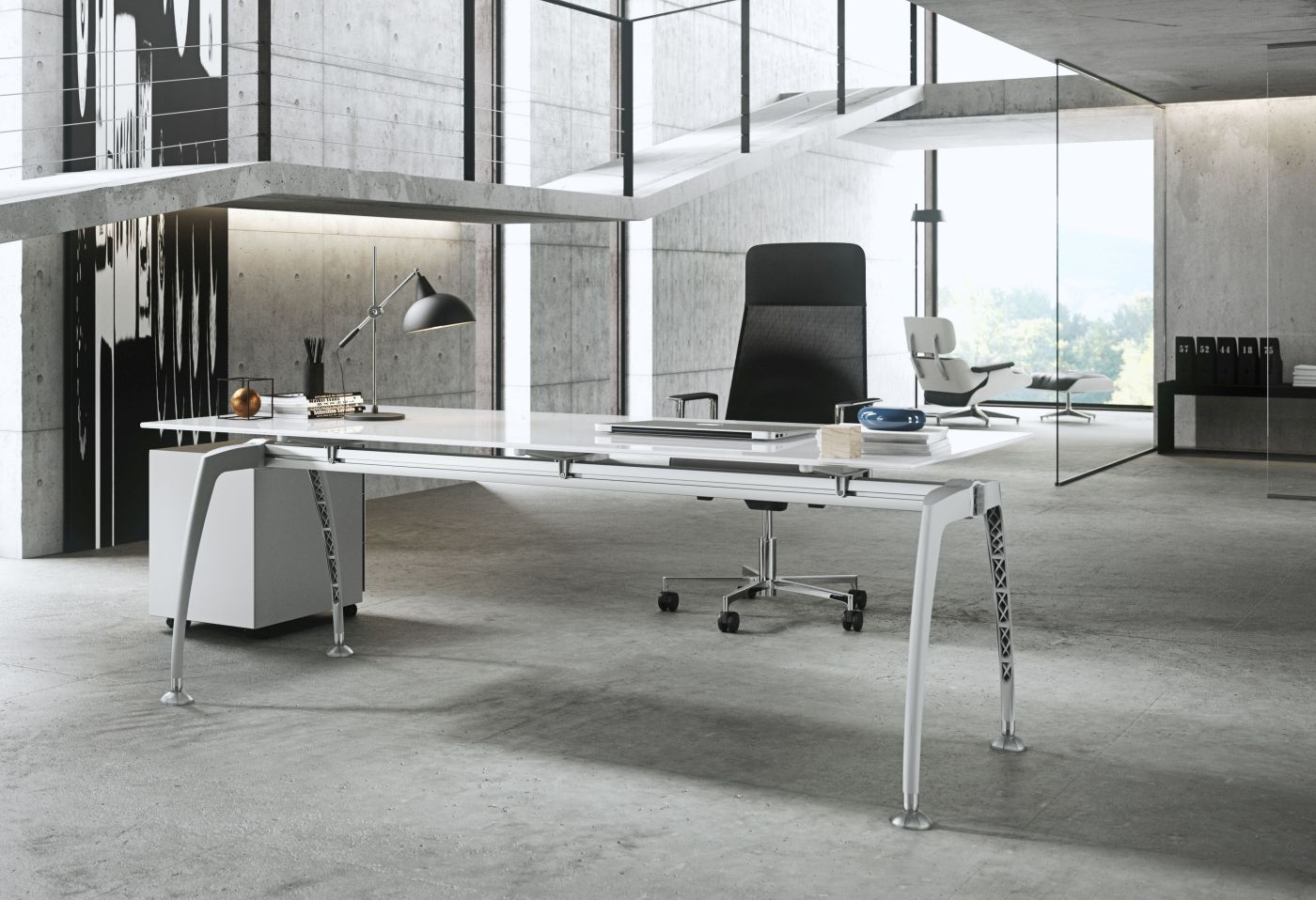 glas-schreibtisch tiper | büromöbel