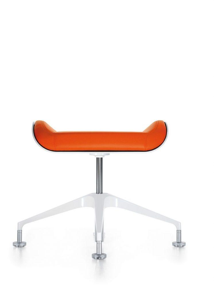 hocker_silver_100s_frontal_orange_beschichtet