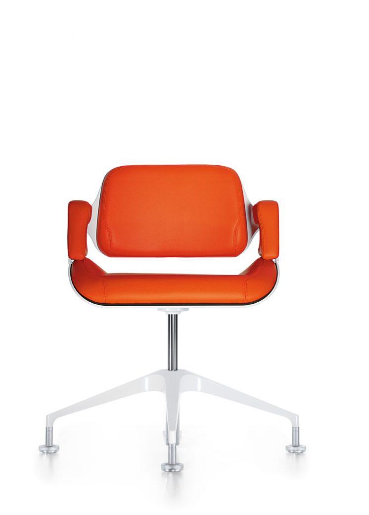konferenzstuhl_silver_101s_frontal_orange_beschichtet