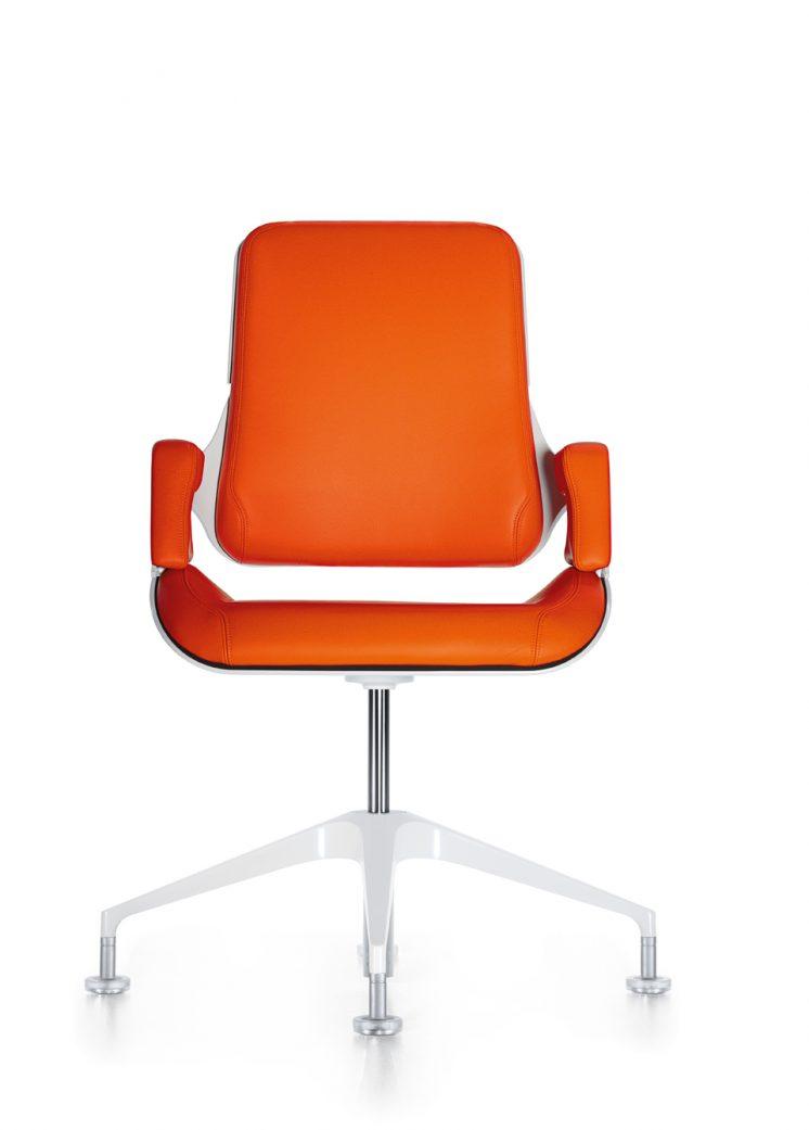 konferenzstuhl_silver_151s_frontal_orange_beschichtet